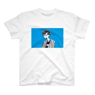 青空サマーメガネボーイ T-shirts
