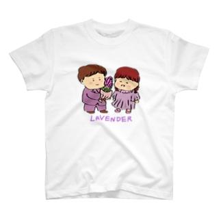 ラベンダーカップル T-shirts