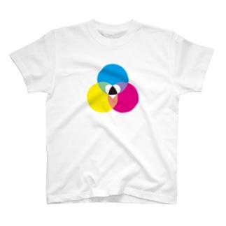 色のベン図Tシャツ_ T-shirts