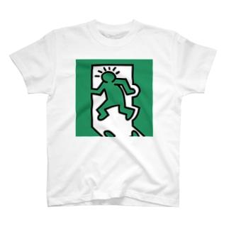 キースへリング風非常口 T-shirts