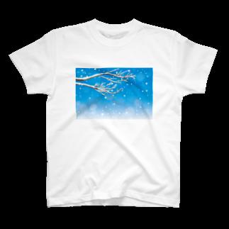 わたのはらの雪は降りつつ T-shirts