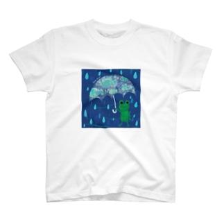 カエルのアンブレラ T-shirts