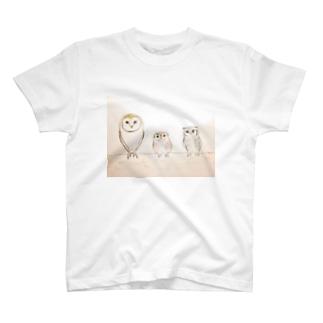 フクロウず T-shirts