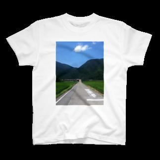 健太 下田の一本道 T-shirts