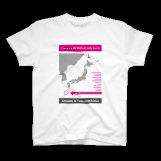 P@DESIGN~生物から悪ふざけまでなんでもウホホ~の生物多様性シリーズAMAMI&TOKUNOSHIMA T-shirts