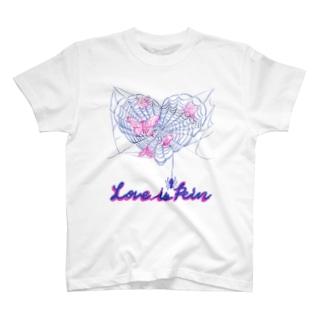 くろギャル love in pain Tシャツ 白 T-shirts