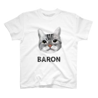 サバトラ猫 BARON カラー T-shirts