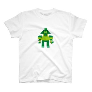 ロボロボ(緑) T-shirts