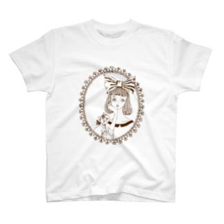 頬杖ガール T-shirts