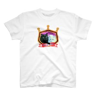黒猫Booと白猫Wooの物語 T-shirts