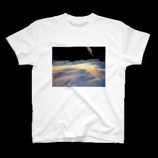 場末の夕空に落ちる T-shirts