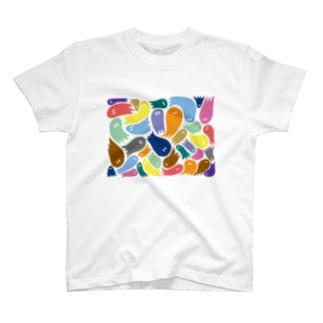 カラフルおばけ T-shirts