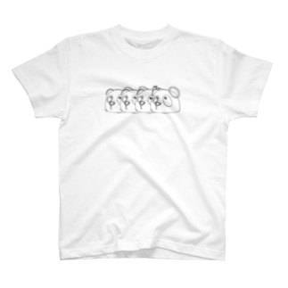 4 pandas T-shirts