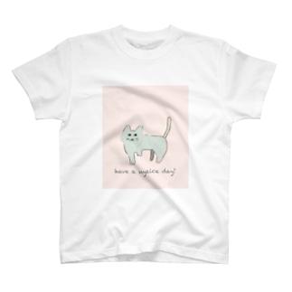ゆるねこパステル もじ入り T-shirts
