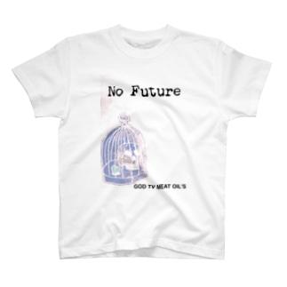 No  Future-スカル×鳥かご T-shirts
