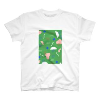 KIKAGAKU GREEN T-shirts