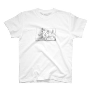 マのウサギ3 T-shirts