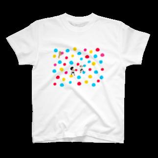 花くまゆうさくのボルダリング T-shirts