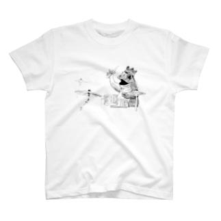 カエルのドラマー T-shirts