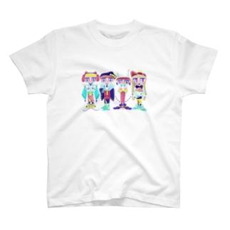 イノシシ四人衆 T-shirts
