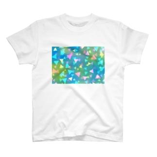 とめどなく三角 T-shirts