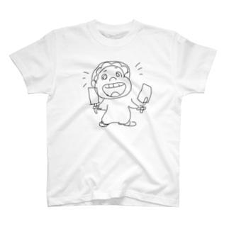 やるきげんきべいびーモノクロ T-shirts