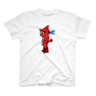 赤猫立つ! T-shirts