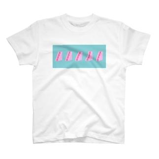 ぴんくのいちごサンド T-shirts