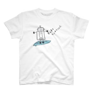 ろぼロボサーフィン T-shirts