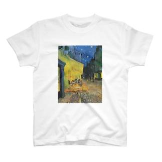 ゴッホ / 夜のカフェテラス / 1888 / Terrasse du café le soir T-shirts