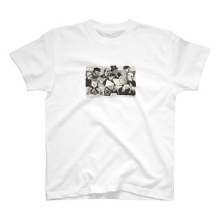 ゴッホ / 1882 /Church Pew with Worshippers / Vincent van Gogh T-shirts