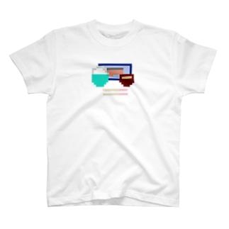 8bit朝食(鮭) T-shirts