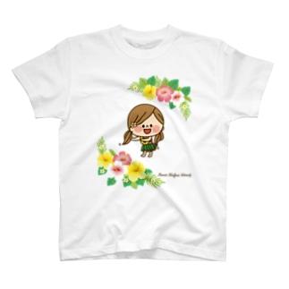 かわいい主婦の1日ハイビスカス T-shirts