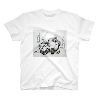ひよこ書店 ☆ SEIKO Goods Shop from NASUのドローイング3 T-shirts