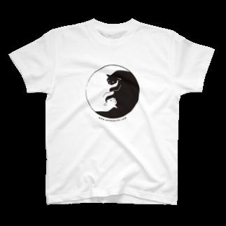 菊地純のしろくろねこ T-shirts