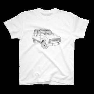ESPERTOのRENAULT 4GTL(BK) T-shirts
