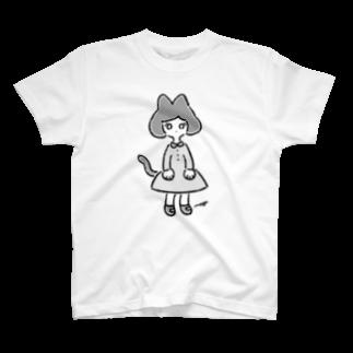 magoのねこさん's(モノクロ) T-shirts