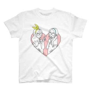 まきことぱちこ T-shirts