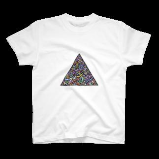かもちゃんとドブ仔犬のミミ図(colour) T-shirts