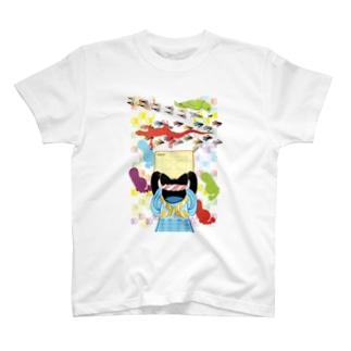 雑巾がけと足跡(リメイク) T-shirts