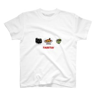 TABETAI Tシャツ T-shirts