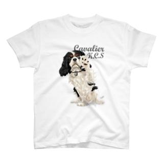 キャバリア№09 ちょいちょいトライカラー T-shirts