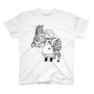ルーシーとモモ T-shirts