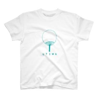 レトロデザイン「うちわ」 T-shirts