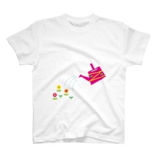じょうろとお花 T-shirts