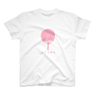 うちわ(サクラピンク) T-shirts