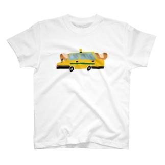 フランスパンとタクシー T-shirts