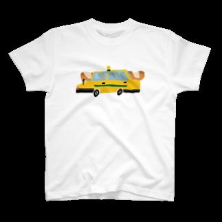 明季 aki_ishibashiのフランスパンとタクシー T-shirts