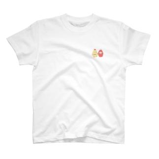 めだまやき犬 柴犬とゴールデン〜mayo & kecha〜 T-shirts