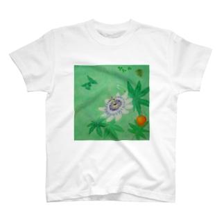 陽だまり時計草 T-shirts